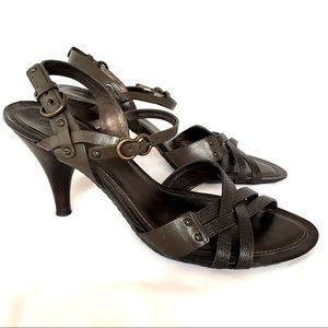 Cole Haan Heels Brown Sandals 10 Leather Strappy